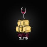Fundo do projeto do tambor da adega do vidro de vinho Imagem de Stock Royalty Free