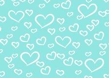 Fundo do projeto dos corações Cartão Valentine Day Ilustração do vetor Teste padrão do coração Confetti de queda Eps 10 ilustração do vetor