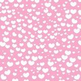 Fundo do projeto dos corações Cartão Valentine Day Ilustração do vetor Teste padrão do coração Confetti de queda Eps 10 ilustração royalty free