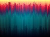 Fundo do pulso aleatório Distorção dos dados de imagem Linhas abstratas conceito da cor Listras verticais de Glitched Formas do i ilustração do vetor