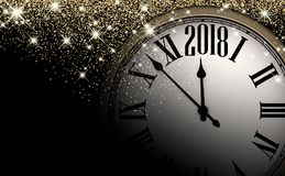 Fundo do pulso de disparo do ano novo do preto 2018 Imagens de Stock Royalty Free