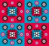 Fundo do quadrado do teste padrão de flor Foto de Stock Royalty Free