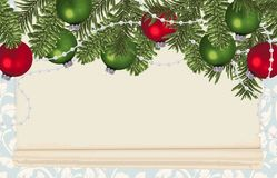 Fundo do quadro do Natal foto de stock