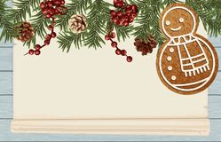 Fundo do quadro do Natal fotografia de stock royalty free