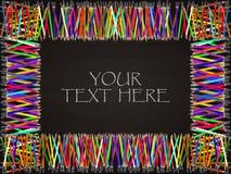 Fundo do quadro-negro com quadro retangular colorido do lápis Foto de Stock Royalty Free