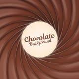 Fundo do redemoinho do chocolate com lugar para seu índice Foto de Stock