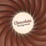 Fundo do redemoinho do chocolate com lugar para seu índice Imagem de Stock