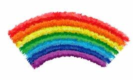 Fundo do respingo da pintura do curso da escova da cor do arco-íris da arte Foto de Stock Royalty Free