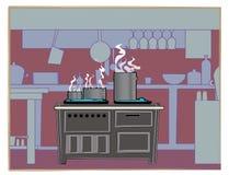 Fundo do restaurante da cozinha Imagem de Stock