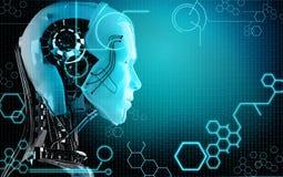 Fundo do robô do computador Foto de Stock Royalty Free