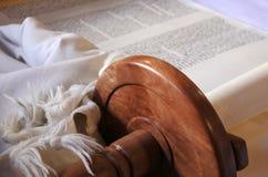 Fundo do rolo de Torah fotografia de stock
