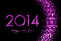 Fundo do roxo do ano 2014 novo feliz Imagens de Stock