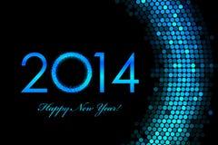 Fundo do roxo do ano 2014 novo feliz Foto de Stock Royalty Free