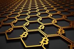 Fundo do símbolo de Bitcoin Imagem de Stock