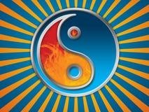 Fundo do símbolo de Jing Jang Foto de Stock Royalty Free