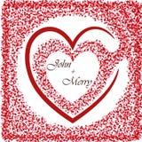 Fundo do ` s do Valentim com coração ano novo feliz 2007 Vetor Fotografia de Stock