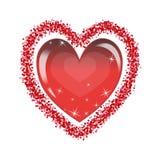 Fundo do ` s do Valentim com coração ano novo feliz 2007 Vetor Imagem de Stock