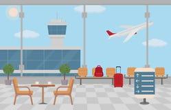 Fundo do salão no aeroporto Fotos de Stock Royalty Free