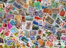 Fundo do selo de porte postal do mundo Imagens de Stock Royalty Free