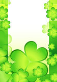 Fundo do Shamrock para o Pa do St. Imagem de Stock Royalty Free