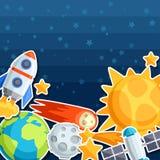 Fundo do sistema solar, dos planetas e de celestial Imagem de Stock Royalty Free