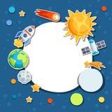 Fundo do sistema solar, dos planetas e de celestial Imagem de Stock