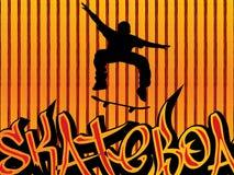 Fundo do skater ilustração stock