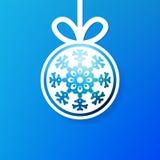 Fundo do snowflak do applique do Natal. + EPS8 Fotografia de Stock Royalty Free