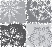 Fundo do Snowflake, vetor Fotografia de Stock Royalty Free