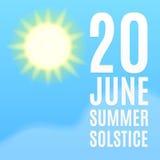 Fundo do solstício de verão Foto de Stock Royalty Free