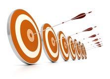 Fundo do sucesso comercial, branco Fotografia de Stock
