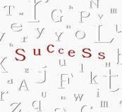 Fundo do sucesso do alfabeto Fotos de Stock Royalty Free