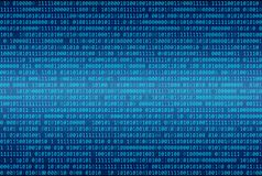 Fundo do sumário do código binário, Digital Imagem de Stock Royalty Free