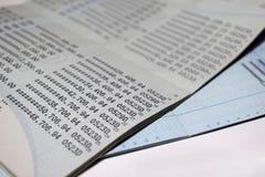 Fundo do sumário da conta bancária de caderneta bancária de conta da economia Imagem de Stock