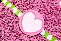 Fundo do sumário da etiqueta do coração Fotografia de Stock Royalty Free