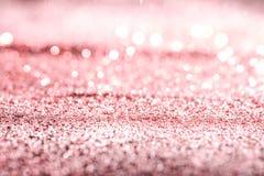 Fundo do sumário da textura da poeira do rosa do ouro de Rosa Fotos de Stock