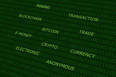 Fundo do sumário de Bitcoin foto de stock