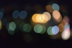 fundo do sumário do borrão de Colorfull do efeito da luz do bokeh fotografia de stock