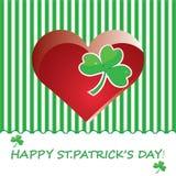 Fundo do sumário do dia do St. Patricks. Fotos de Stock Royalty Free
