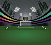 Fundo do sumário do estádio de futebol. Foto de Stock