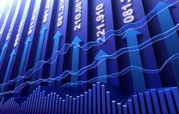 Fundo do sumário do mercado de valores de acção Foto de Stock