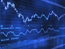 Fundo do sumário do mercado de valores de acção Imagens de Stock Royalty Free