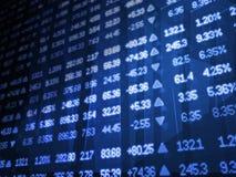 Fundo do sumário do mercado de valores de acção Ilustração do Vetor