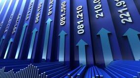 Fundo do sumário do mercado de valores de acção ilustração stock
