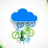 Fundo do sumário do negócio da tecnologia da nuvem da Web Fotos de Stock Royalty Free