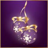Fundo do sumário do ` s do ano novo com as bolas do Natal ilustração do vetor
