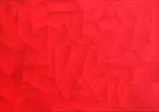 Fundo do sumário do teste padrão do polígono, tema vermelho Fotos de Stock
