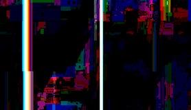 Fundo do sumário do pulso aleatório, grunge do problema técnico ilustração stock