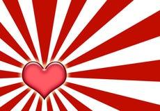 Fundo do Sunburst do amor de Corazon Fotos de Stock