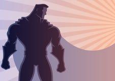 Fundo 2 do super-herói ilustração royalty free